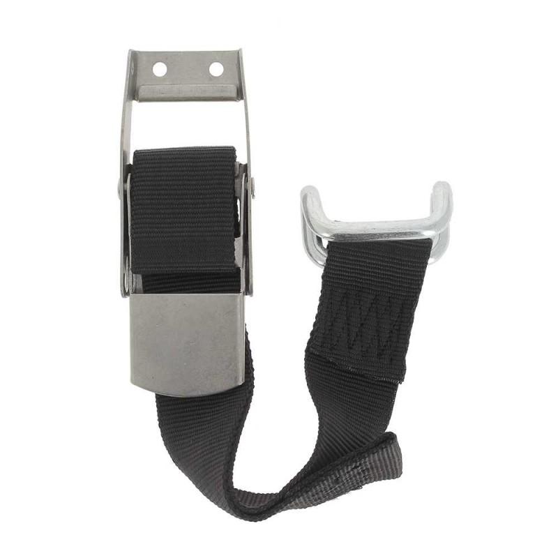 Bas rideau inox crochet fermé avec sangle polypropylène 80 cm BASR003  Accessoires pour bâches