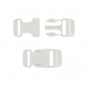 Boucle ouverture rapide blanche plastique 25 mm BOUC003  Accessoires pour bâches