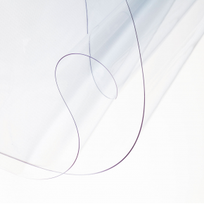 Bâche plate transparente ignifugée - 610 g/m²
