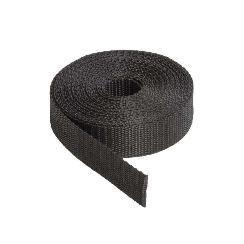 Sangle 3.5 tonnes 45 mm noir au mètre - Accessoires pour bâches