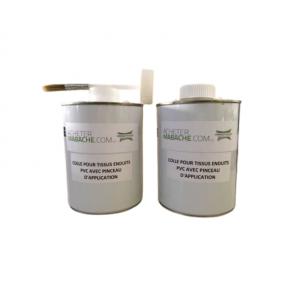 Colle bache PVC avec pinceau d'application - 1KG COLL003  Accessoires pour bâches