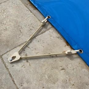 Sandow élastique click tigre 50 cm pour piscine - Accessoires pour bâches